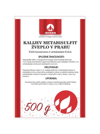 K-METABISULFIT - ŽVEPLO V PRAHU 500 g