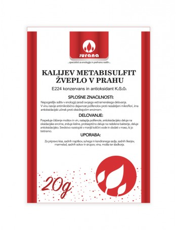 K-METABISULFIT - ŽVEPLO V PRAHU 20 g