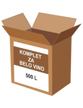 KOMPLET ZA BELO VINO 500 l
