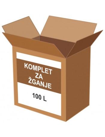 KOMPLET ZA PRIPRAVO 100 L  ŽGANJA + ALKOHOLMETER