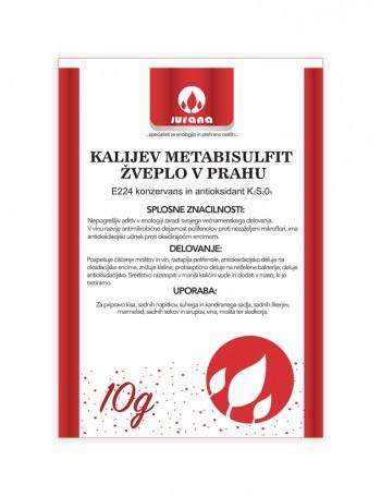 K-METABISULFIT - ŽVEPLO V PRAHU 10 g